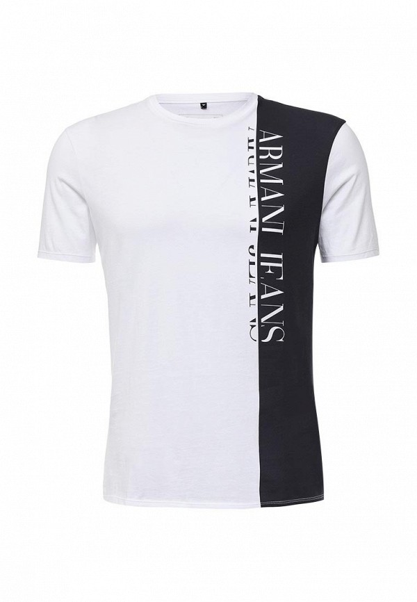 Футболка с надписями Armani Jeans (Армани Джинс) 6x6t54 6JPFZ: изображение 2