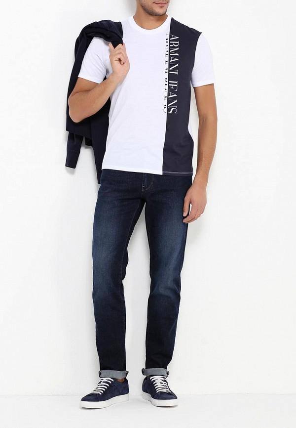 Футболка с надписями Armani Jeans (Армани Джинс) 6x6t54 6JPFZ: изображение 3
