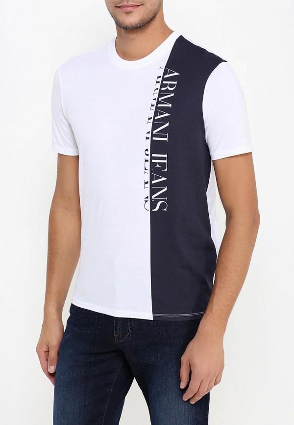 Футболка с надписями Armani Jeans (Армани Джинс) 6x6t54 6JPFZ: изображение 4