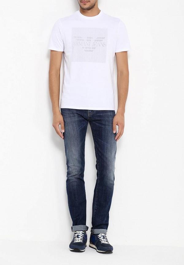 Футболка с надписями Armani Jeans (Армани Джинс) 6x6t13 6J00Z: изображение 3
