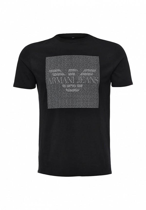 Футболка с надписями Armani Jeans (Армани Джинс) 6x6t13 6J00Z: изображение 1