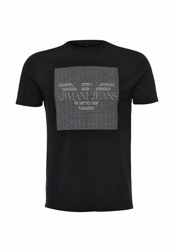 Футболка с надписями Armani Jeans (Армани Джинс) 6x6t13 6J00Z: изображение 2