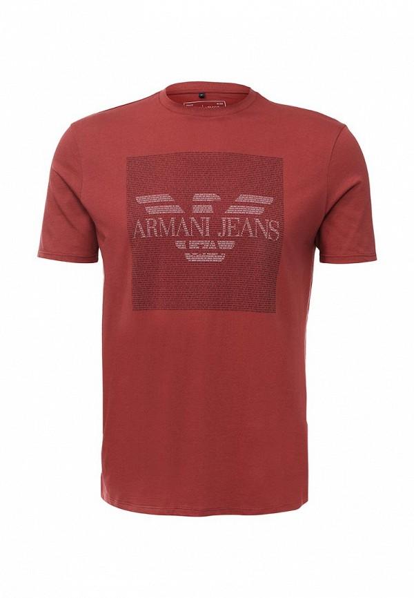 Футболка с надписями Armani Jeans (Армани Джинс) 6x6t13 6J00Z