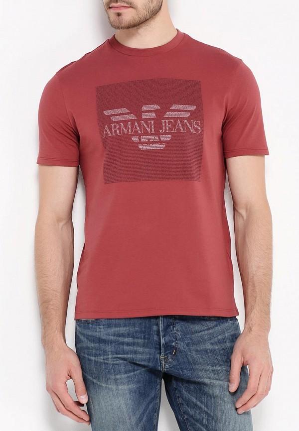 Футболка с надписями Armani Jeans (Армани Джинс) 6x6t13 6J00Z: изображение 4
