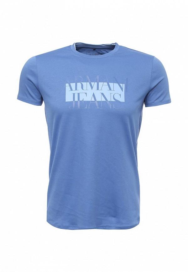 Футболка с надписями Armani Jeans (Армани Джинс) 6x6t30 6JPRZ: изображение 1