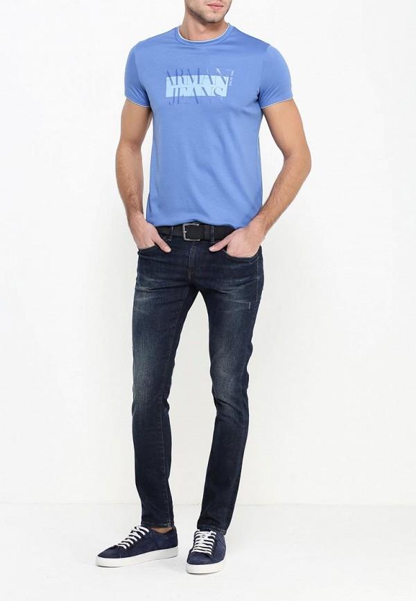 Футболка с надписями Armani Jeans (Армани Джинс) 6x6t30 6JPRZ: изображение 3