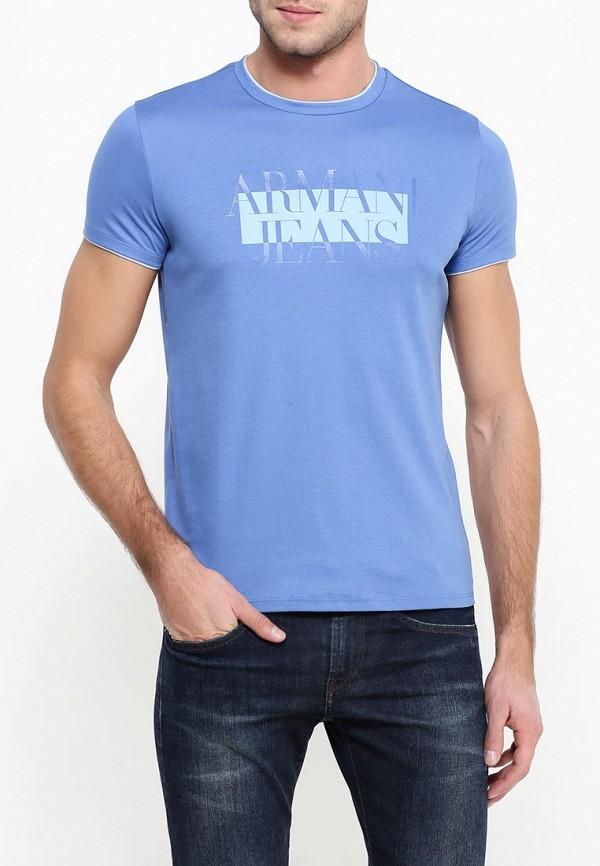 Футболка с надписями Armani Jeans (Армани Джинс) 6x6t30 6JPRZ: изображение 5