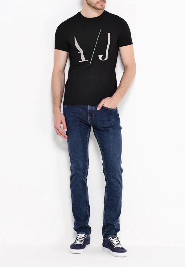 Футболка с надписями Armani Jeans (Армани Джинс) 6x6t07 6J0AZ: изображение 3