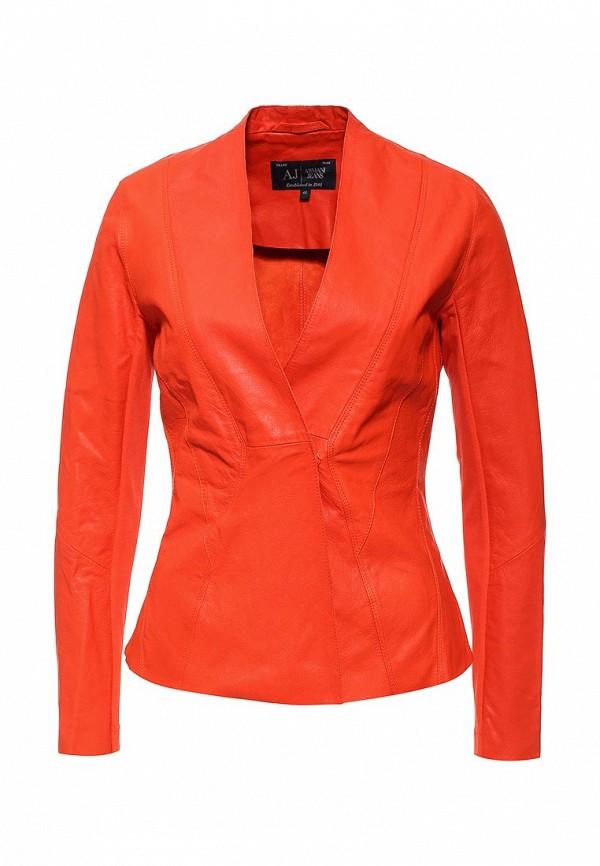 Кожаная куртка Armani Jeans (Армани Джинс) c5n28 wh