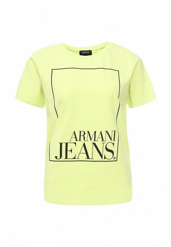 Фото - женскую футболку Armani Jeans зеленого цвета