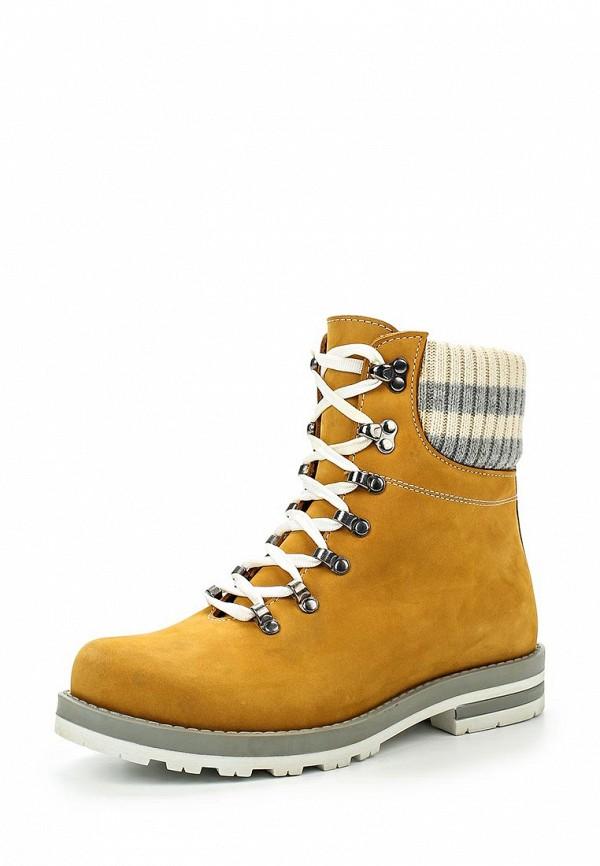 Женские осенние ботинки из нубука на каблуке