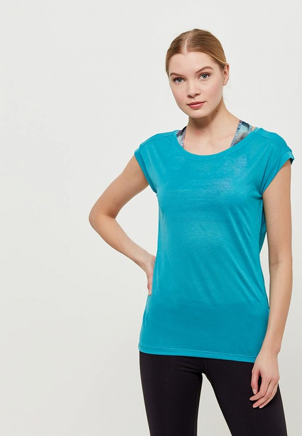 Футболка спортивная ASICS ASICS AS455EWZTJ36 color block shift plus size longline t shirt