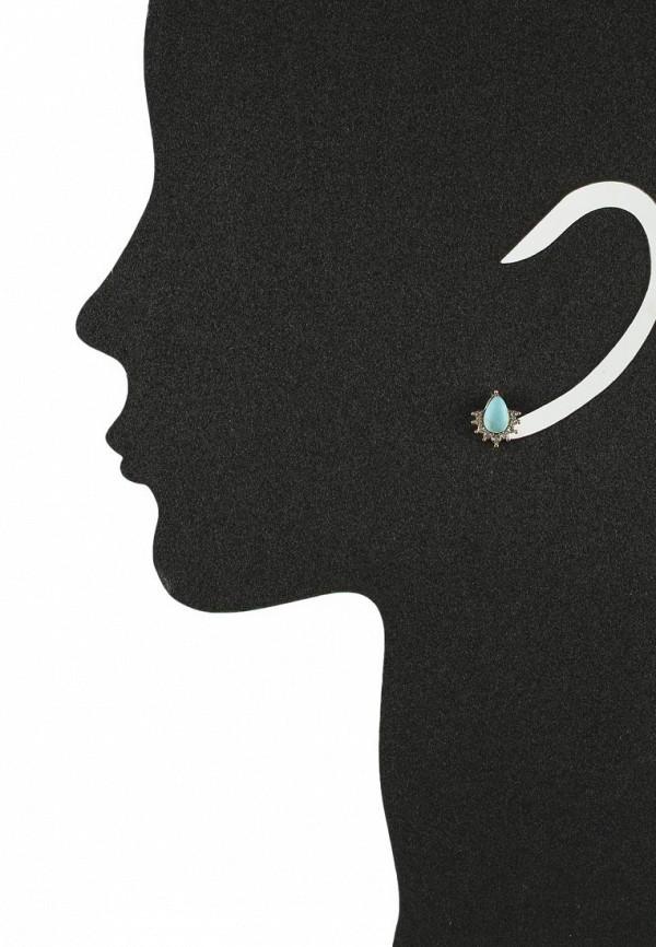 Женские серьги AtStyle247 T-B-8341-EARR-GD.TURQUOISE: изображение 2