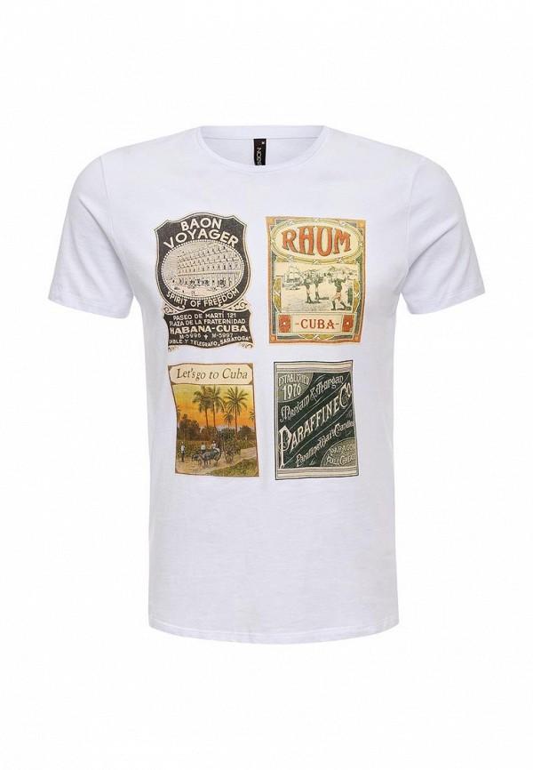 Купить мужскую футболку Baon белого цвета