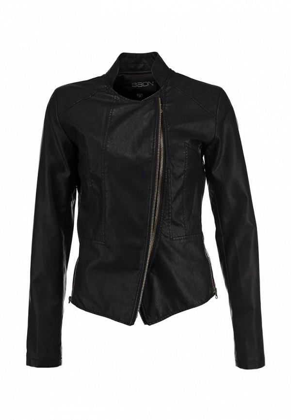 Куртка кожаная Baon BA007EWBLL24. Цвет: черный