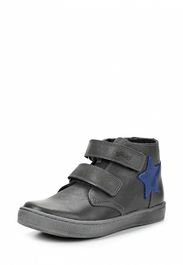 Ботинки Bambi. Цвет: серый