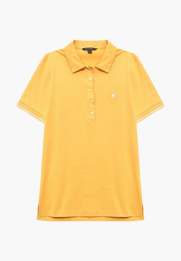 Поло  желтый цвета