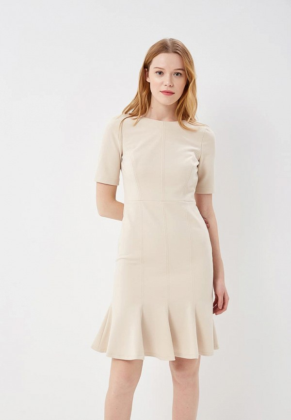 Купить Платье Banana Republic, BA067EWAPJG5, бежевый, Весна-лето 2018