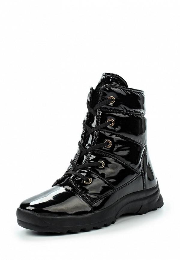 Женские черные итальянские осенние кожаные ботинки