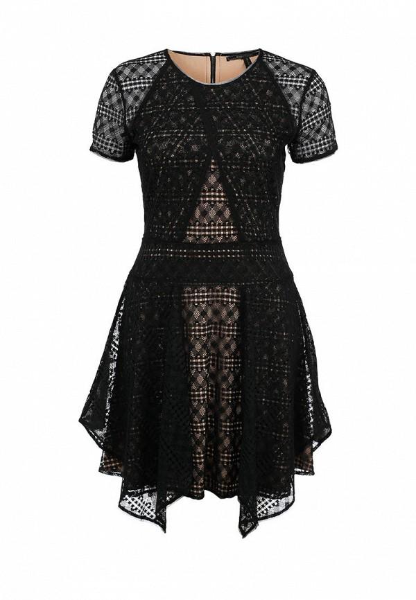 Платье-миди BCBGMAXAZRIA DSX64F01: изображение 1