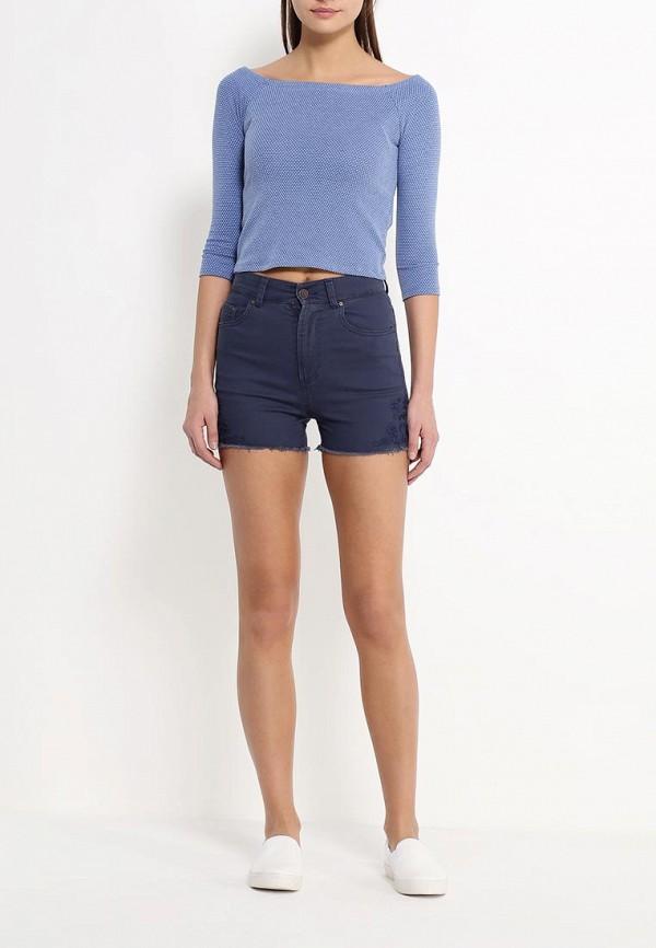 Женские джинсовые шорты Benetton (Бенеттон) 4TG2590I4: изображение 2