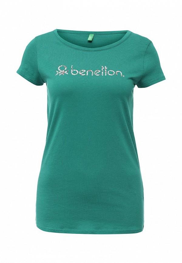 Футболка с надписями Benetton (Бенеттон) 3P2JE1831: изображение 1