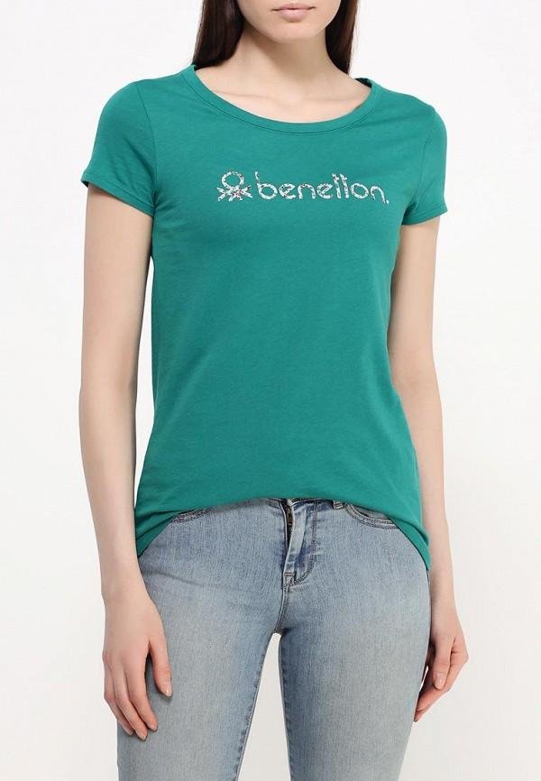 Футболка с надписями Benetton (Бенеттон) 3P2JE1831: изображение 4