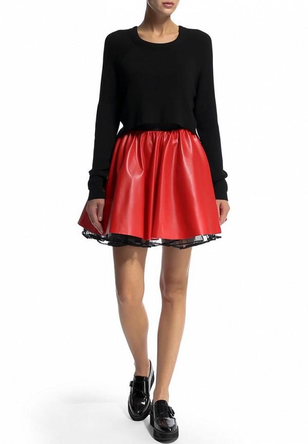 Широкая юбка Be In Ю 27мини+подъюбник-016кож-3сет: изображение 4