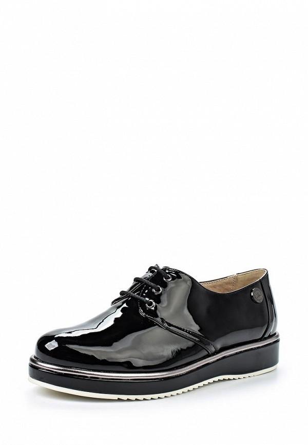 Женские черные осенние ботинки на каблуке на платформе