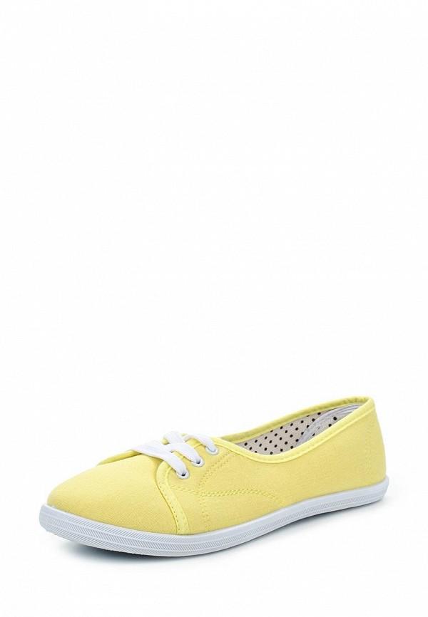 Женские желтые текстильные кеды