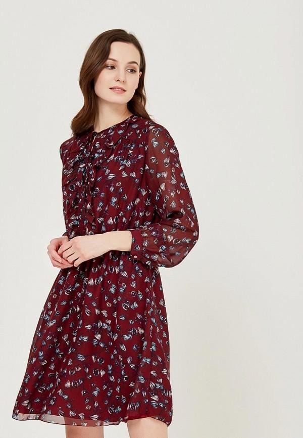 Купить Платье Befree, BE031EWADMP0, бордовый, Весна-лето 2018