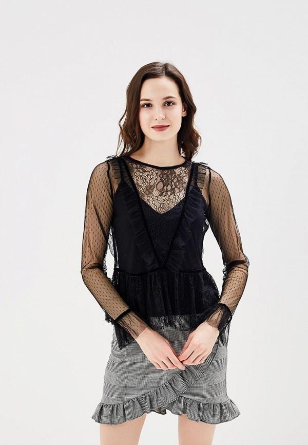 Купить Блуза Befree, BE031EWADOB4, черный, Весна-лето 2018