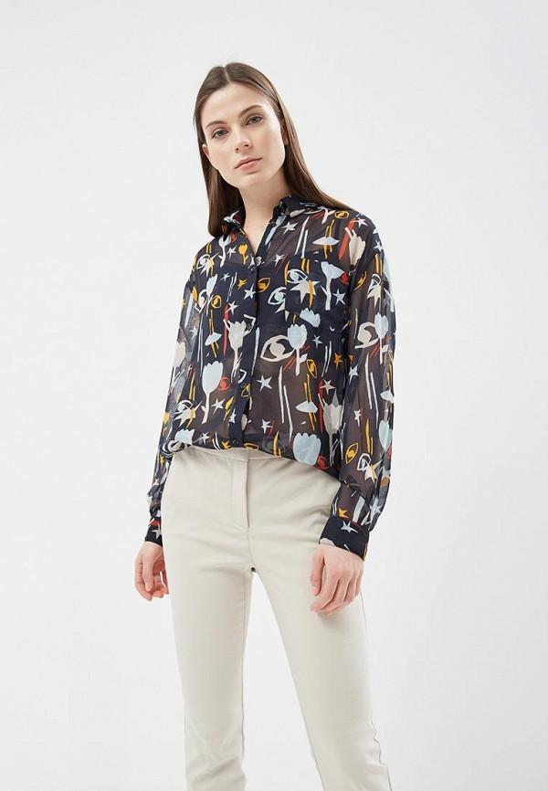 Купить Блуза Befree, BE031EWADOO1, синий, Весна-лето 2018
