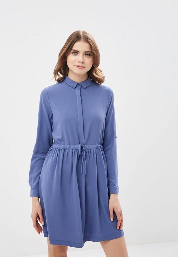 Купить Платье Befree, BE031EWADOV6, синий, Весна-лето 2018