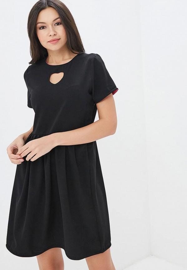 Купить Платье Befree, BE031EWAZZB5, черный, Весна-лето 2018