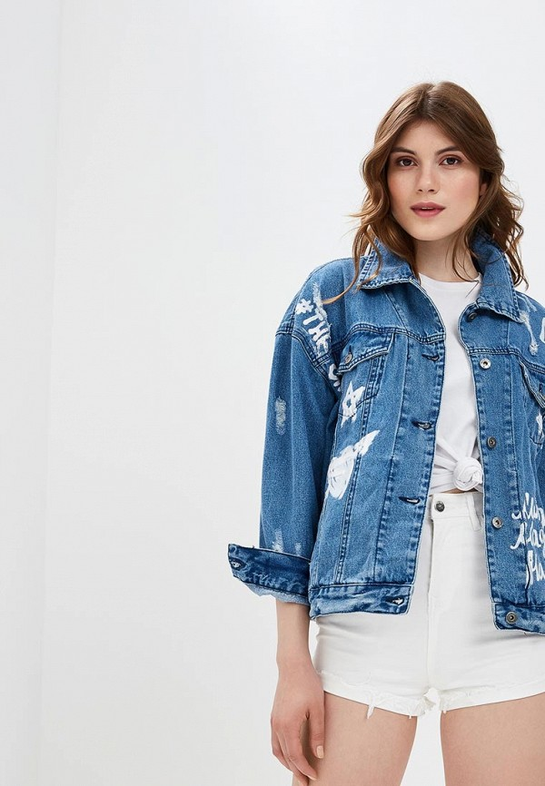 Куртка джинсовая Befree цвет синий сезон весна, демисезон, лето страна Бангладеш размер 38, 40, 42, 44, 46, 48