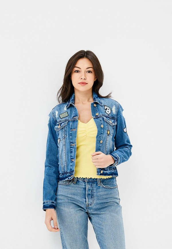 Куртка джинсовая Befree, BE031EWBAAY9, синий, Весна-лето 2018  - купить со скидкой