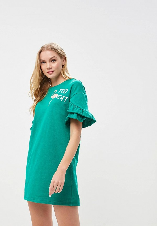 Купить Платье Befree, BE031EWBABB0, зеленый, Весна-лето 2018