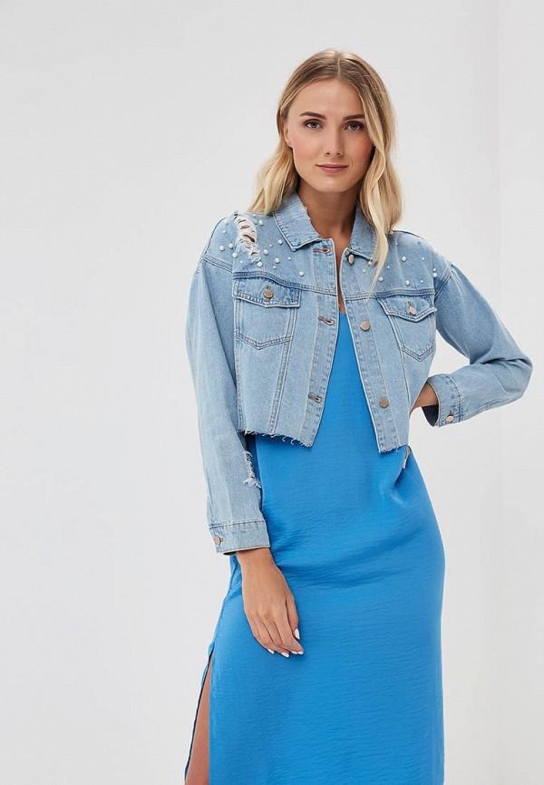 Купить Куртка джинсовая Befree, BE031EWBDOW6, голубой, Весна-лето 2018