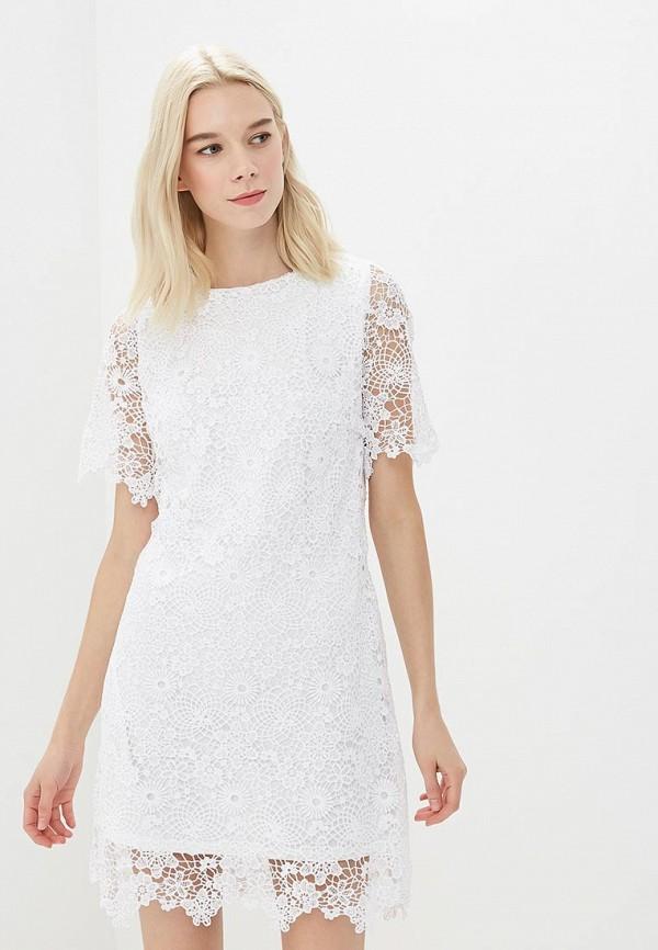 Платье Befree, BE031EWBDPB0, белый, Весна-лето 2018  - купить со скидкой