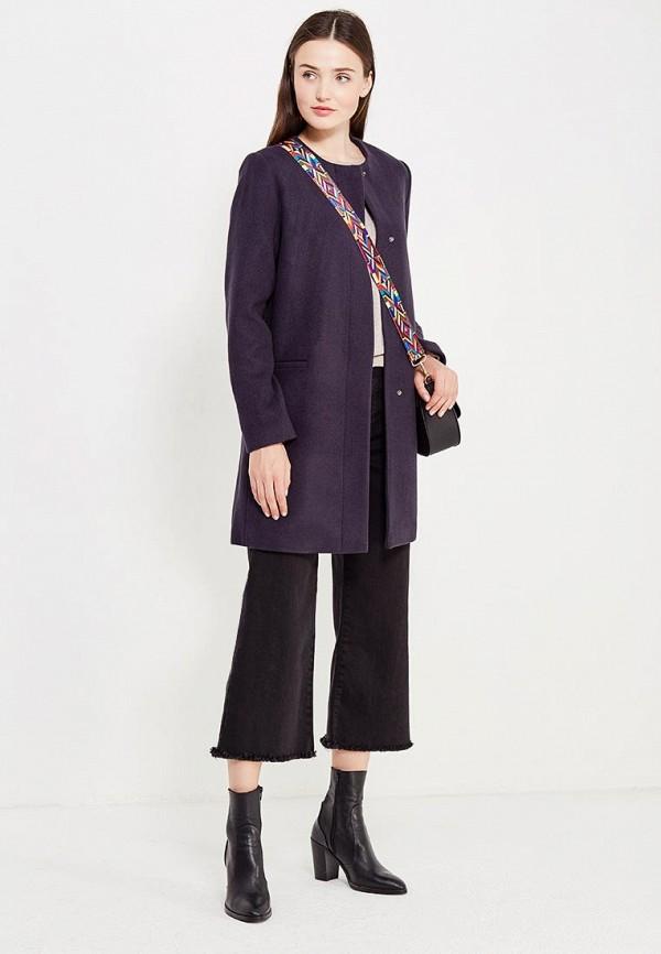 Фото 2 - женское пальто или плащ Befree синего цвета