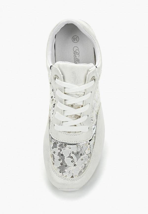 Фото 4 - женские кроссовки Bellamica белого цвета