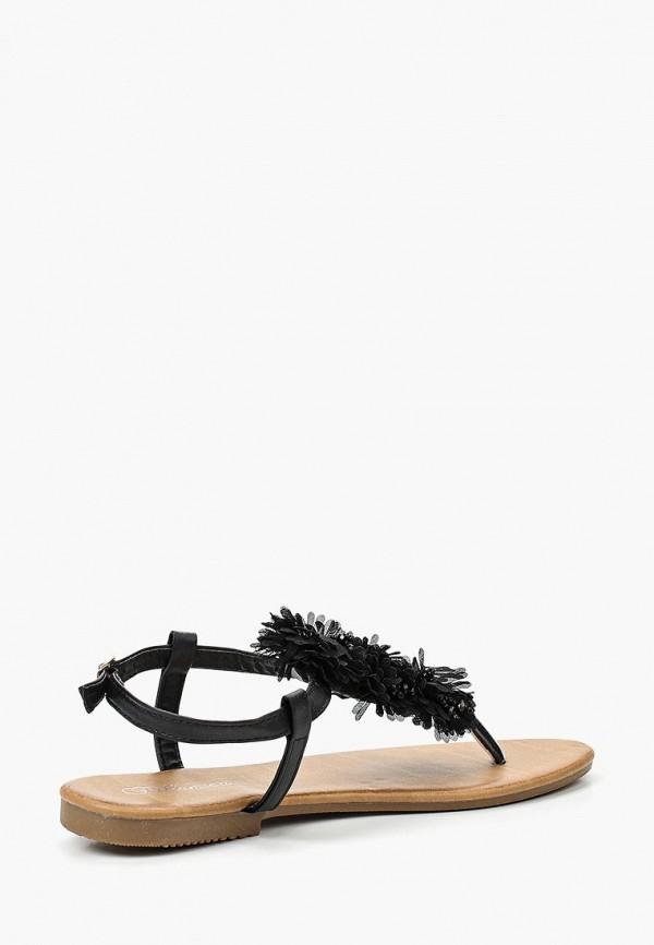 Фото 7 - женские сандали Bellamica черного цвета