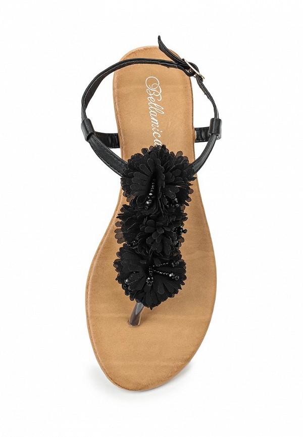 Фото 4 - женские сандали Bellamica черного цвета