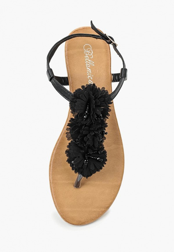 Фото 9 - женские сандали Bellamica черного цвета