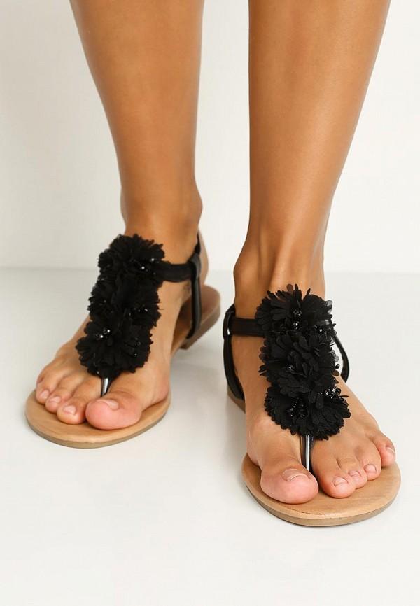 Фото 5 - женские сандали Bellamica черного цвета