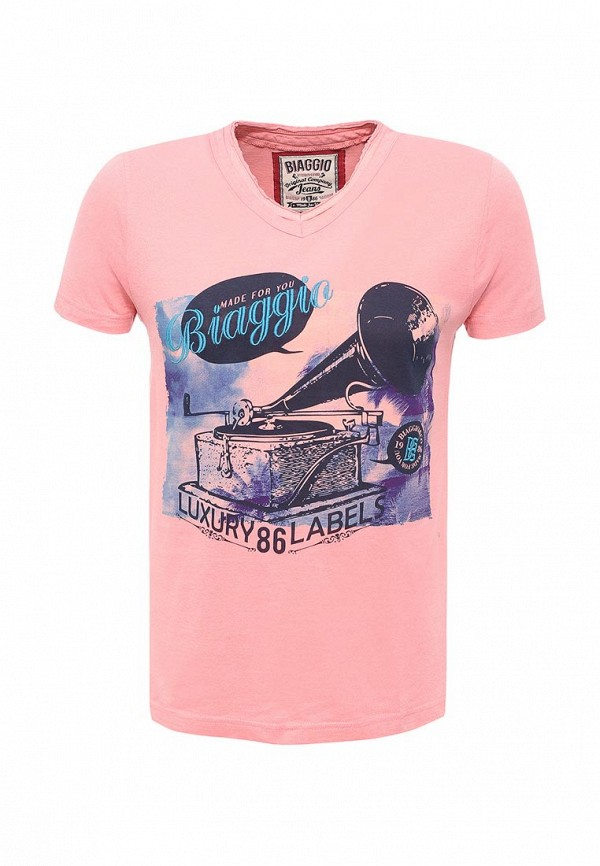 Футболка Biaggio. Цвет: розовый