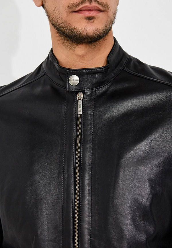 Фото Куртка кожаная Bikkembergs. Купить с доставкой