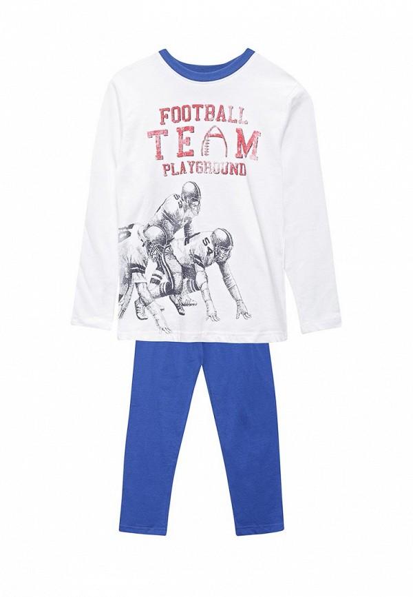 Пижама  - белый, синий цвет