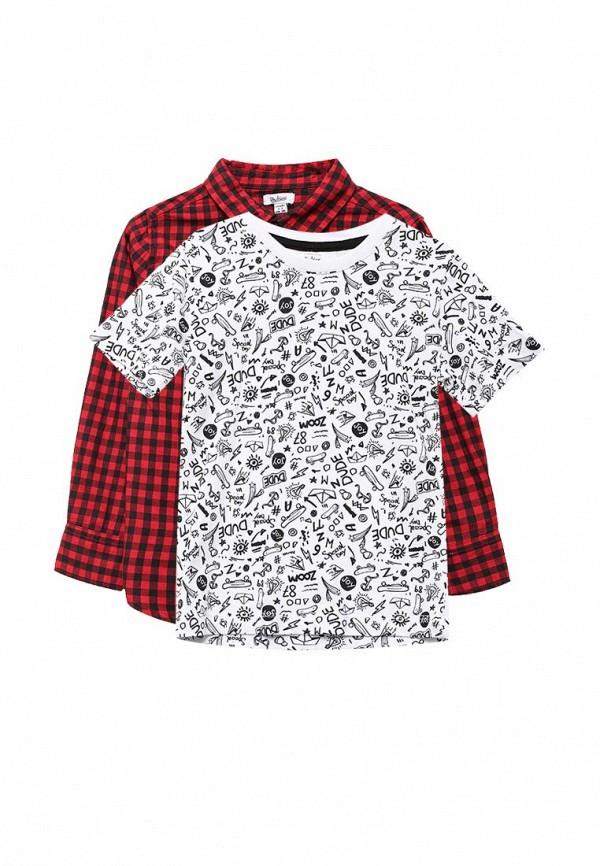 Комплект рубашка и футболка Blukids Blukids BL025EBVYM34 комплект толстовка и футболка blukids blukids bl025ebvyf54